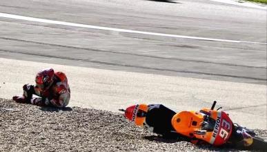 Sustazo para Marc Márquez en el FP3 de MotoGP