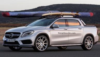 Así podría ser un pick-up basado en el Mercedes GLA