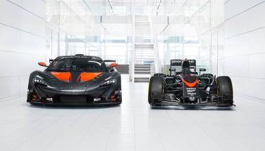 McLaren P1 GTR decorado como el McLaren-Honda MP4/31 de F1