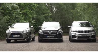 Batalla a tres bandas: BMW X5, Mercedes GLE y Lexus RX