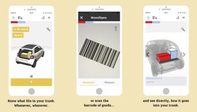 La app de Smart para colocar tus compras en el maletero