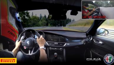 Vídeo: récord en Nürburgring con el Alfa Romeo Giulia QV