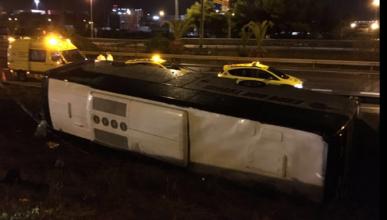 Más de 20 heridos en un accidente de autobús en Barcelona