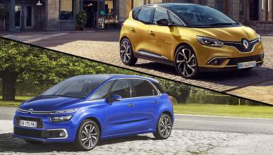 ¿Cuál es mejor, Renault Scénic 2016 o Citroën C4 Picasso?