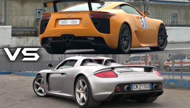 Vídeo: Porsche Carrera GT o Lexus LFA, ¿cuál suena mejor?