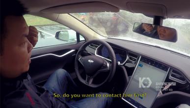 Tres hackers controlan un Tesla Model S
