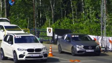 BMW X5 M vs Mercedes-AMG E 63, lucha con 750 CV