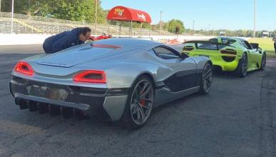 Duelo de altura: Rimac Concept_One 'vs' Porsche 918 Spyder