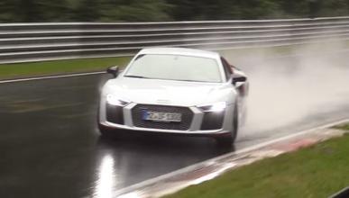 Vídeo: espectacular salvada de un Audi R8 V10 plus