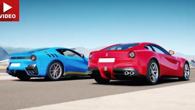 Drag race: Ferrari F12 vs F12tdf (según Forza Horizon 3)