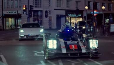 Porsche Panamera 4 E-Hybrid y 919 Hybrid juntos en Londres