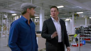 Vídeo: Leonardo DiCaprio visita la GigaFactoría de Tesla