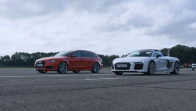 Vídeo: Audi RS6 Performance vs Audi R8 Spyder