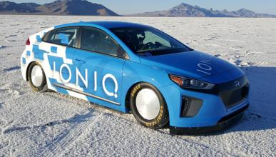 Vídeo: récord de velocidad para el Hyundai Ioniq híbrido