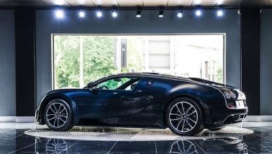 Bugatti Veyron Super Sport Blue Carbon lateral