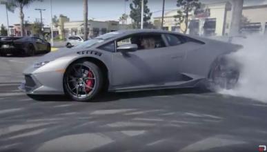 ¡Así se derrapa con un Lamborghini Huracán LP580-2!