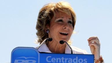 """Esperanza Aguirre califica a Ahora Madrid de """"cochófobos"""""""