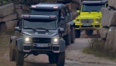 Vídeo: De aventura con tres Mercedes Clase G