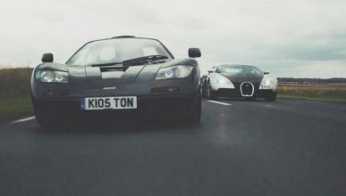 Duelo de titanes: ¡McLaren F1 vs Bugatti Veyron!