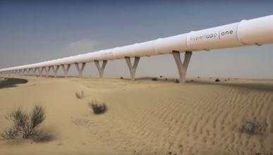 Hyperloop One Dubai tubo obras medio transporte ingeniería futuro
