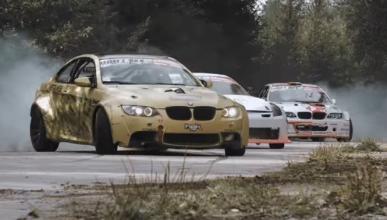 Batalla de drift: dos BMW M3 y un Nissan 350Z