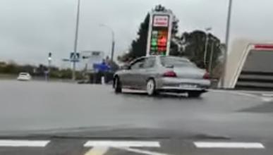 Vídeo: multado por derrapar con un Lancer EVO en Palencia