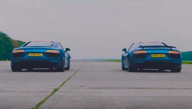 ¡Audi R8 V10 contra Audi R8 V10 Plus, ¡todo al R8!