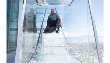 Este tobogán de cristal a 300 m te matará de vértigo