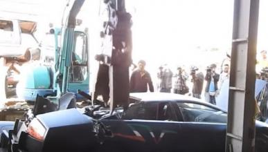 ¡Qué dolor! Destrozan un Lamborghini Murciélago SV