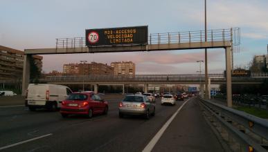 Activado el protocolo de contaminación en Madrid: a 70 km/h