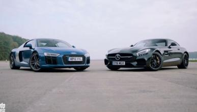 Vídeo: Audi R8 V10 vs Mercedes-AMG GT S