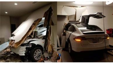 Dueño de un Tesla Model X denuncia un acelerón involuntario