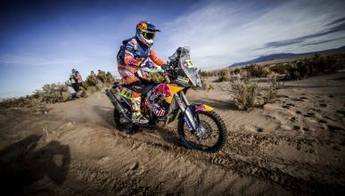 Dakar 2017, Motos. Etapa 5: Sunderland triunfa en el caos