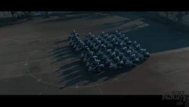 Espectacular ejercicio sincronizado de la policía francesa
