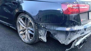 Valentino Rossi sufre un accidente con su Audi RS6