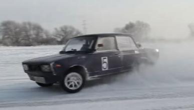 Vídeo: un Lada modificado y una pista de nieve