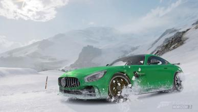 Vídeo: Mercedes-AMG GT R, drift nevado en Forza Horizon 3