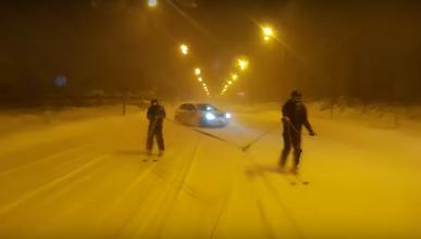 Drift y esquí, protagonistas en las calles de Rumanía