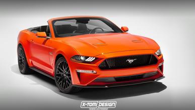 Ford Mustang 2018: si tuviera versión cabrio sería así
