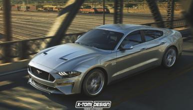 Así podría ser el nuevo Ford Mustang con carrocería sedán