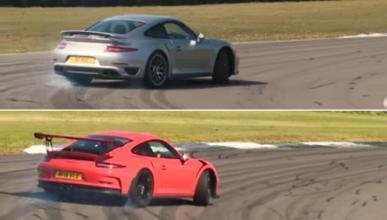 Vídeo: 911 Turbo S contra 911 GT3 RS en circuito