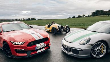 Porsche 911 R/Morgan Threewheeler/Shelby GT350