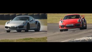 Vídeo: Porsche 911 Turbo S y 911 GT3 RS, replicando tiempos