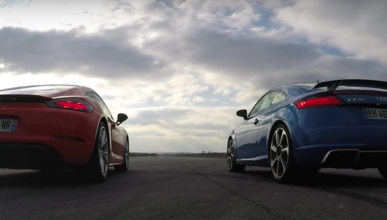 Vídeo: Audi TT RS vs Porsche 718 Cayman S
