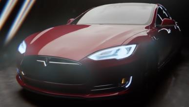 Nikola Tesla conduce el coche que lleva su nombre