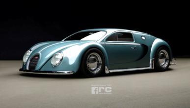 Así sería el Bugatti Veyron si hubiera nacido en 1945