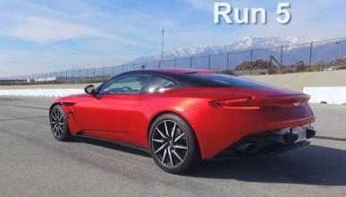 Vídeo: drag race, tarea difícil para el Aston Martin DB11