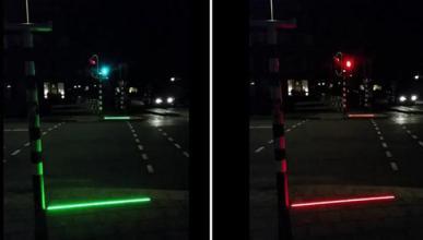 Holanda instala semáforos en el suelo para adictos al móvil