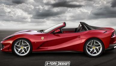 Un vistazo al futuro, así luciría un Ferrari 812 Roadster