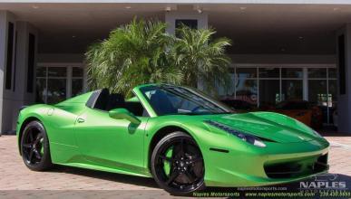 Venta Ferrari 458 Spider verde